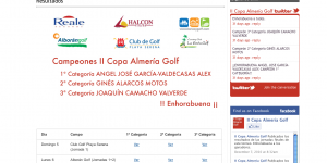 II Copa Almera Golf